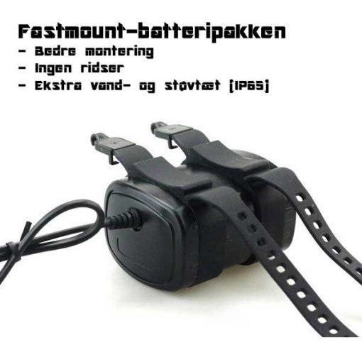 Fastmount Batteri til Cykellygte